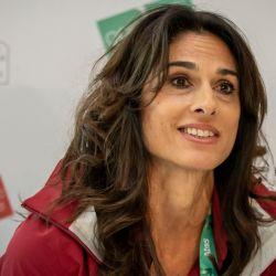 Gabriela Sabatini durante una charla en los Juegos Olímpicos de la Juventud de Buenos Aires, en 2018. // NA