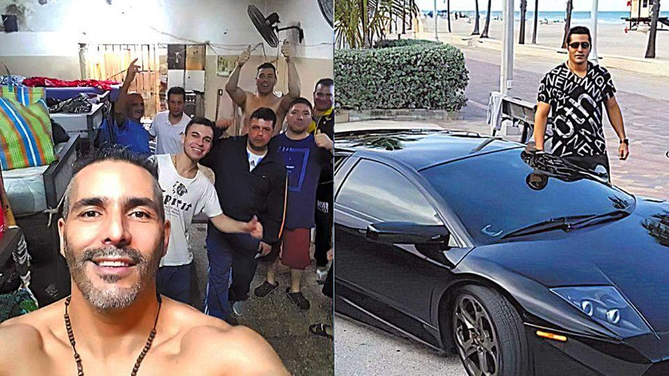 """Cambio. """"Somos 14 personas en un lugar de 15 metros por 5"""", denuncia Russo, quien viajó por el mundo y tenía un Lamborghini."""