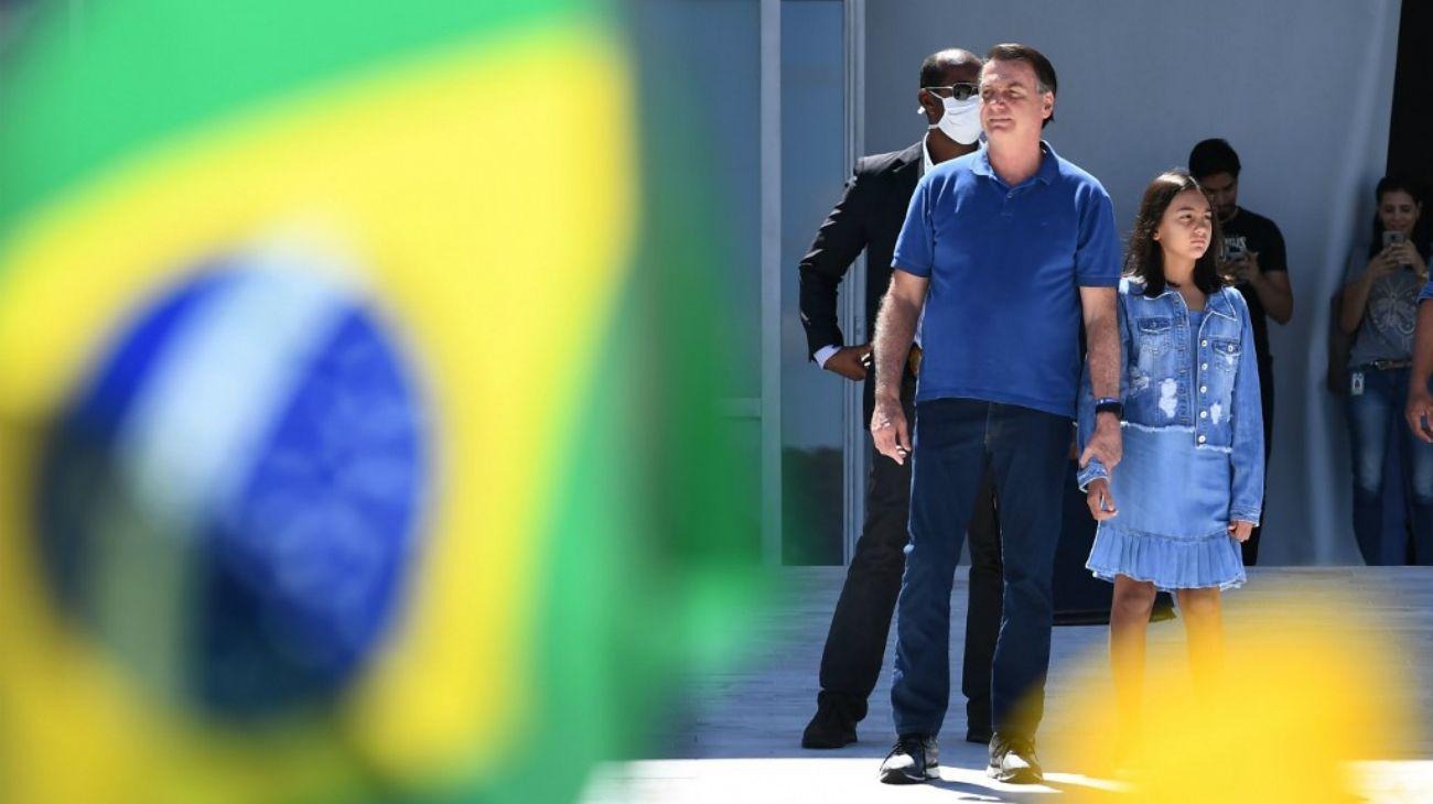 El presidente brasileño, Jair Bolsonaro, en Brasilia este 3 de mayo de 2020.