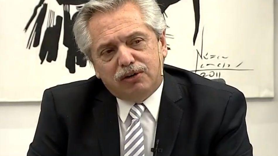 Alberto Fernández entrevistado en