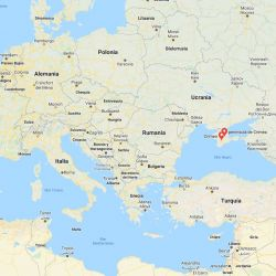 Mapa del lugar donde hallaron el Armenia, barco hospital hundido por los alemanes en 1941.