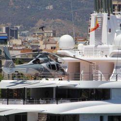 El Radiant cuenta con un sector para aterrizaje de helicópteros.
