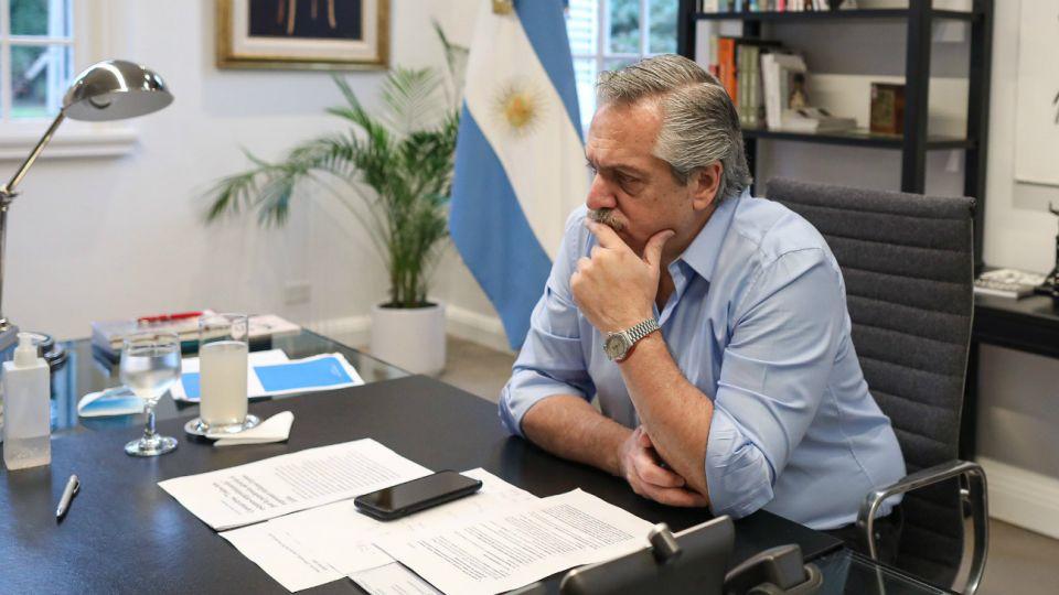 Alberto Fernández en la Quinta de Olivos.