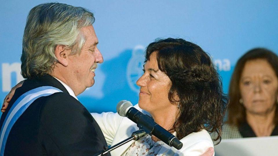 Alberto Fernández y Vilma Ibarra.