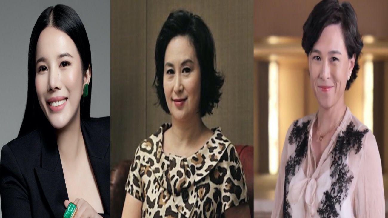 De izq. a der.: la más fashion, Wendy Hu; Pansy Ho heredó casinos, y Gigi Chao, inmobiliaria y militante LGTBI..
