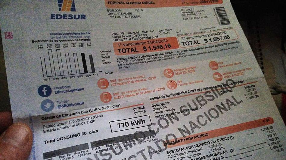 facturas de Luz 20200506
