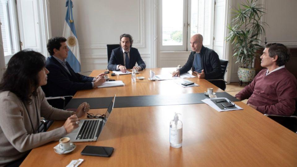 Vilma Ibarra, Wado de Pedro, Santiago Cafiero, Horacio Rodríguez Larreta y Fernán Quirós.
