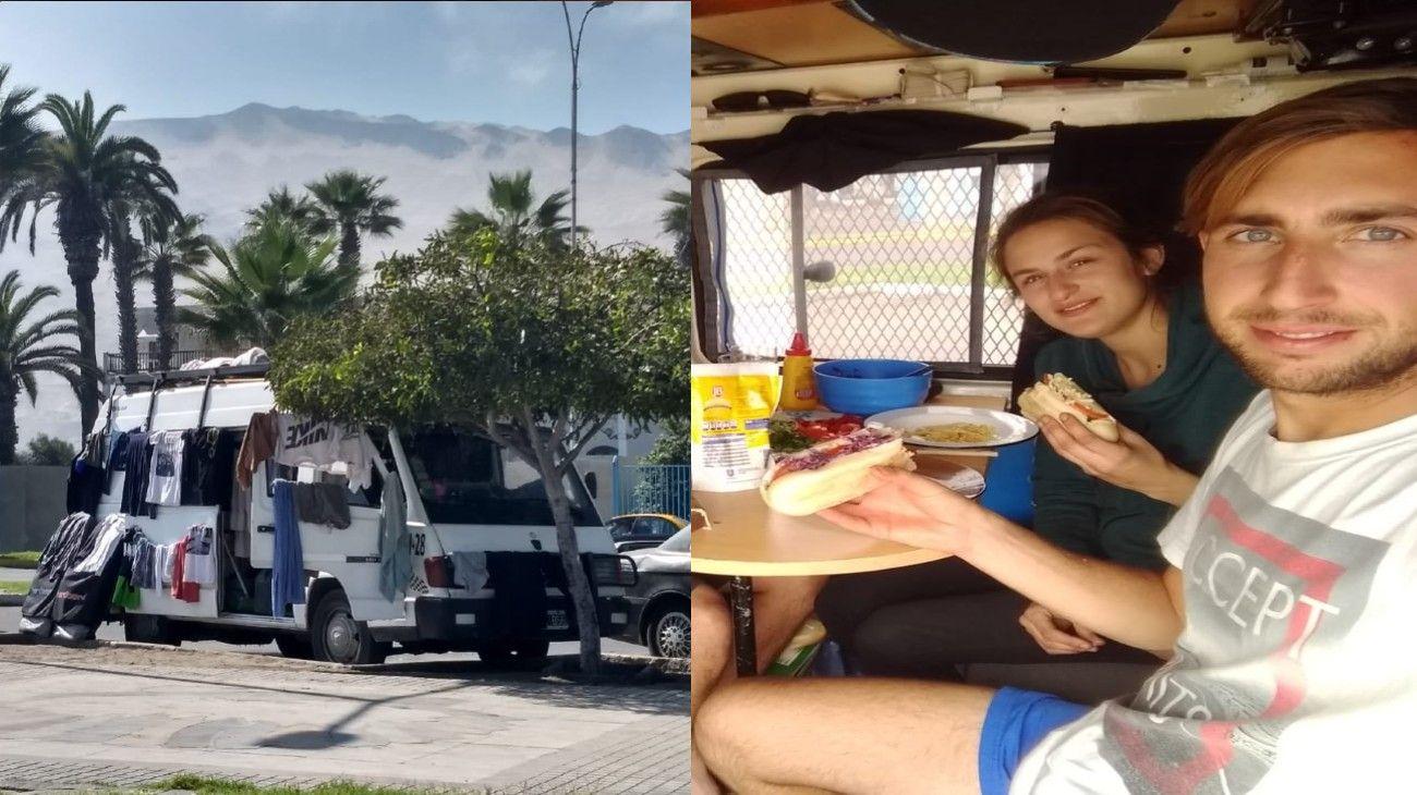 Román y Micaela se quedaron varados en Perú mientras cumplían su sueño de recorrer Sudamérica en motorhome