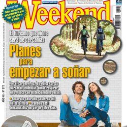 Tapa de Weekend de la edición de Mayo.