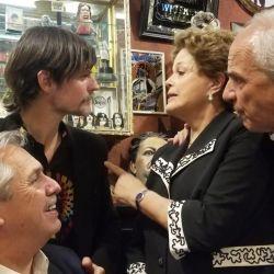 Sabino Vaca Narvaja con Dilma y Alberto Fernández | Foto:Cedoc