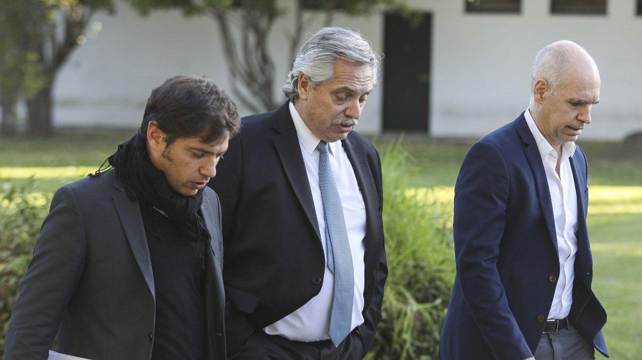 Horacio Larreta Alberto Fernndez Axel kicillof