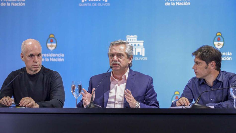 Alberto, Kicillof y Larreta juntos-20200507