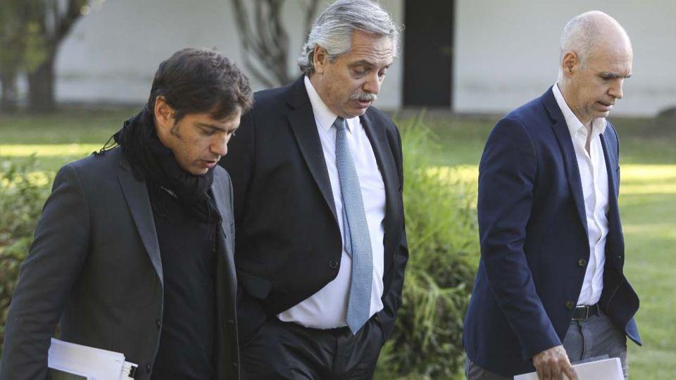 Alberto, Kicillof y Larreta juntos