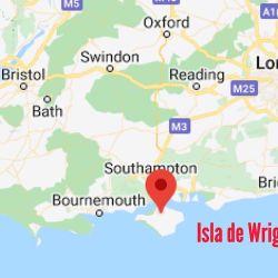 La Isla de Wright se ubica al sur del Reino Unido.