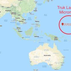 El sitio de buceo se encuentra en Micronesia, a unos 1.750 km de Papúa, Nueva Guinea.