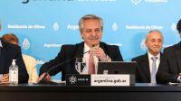 Alberto Fernández en conferencia de prensa.