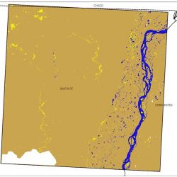 Bajante comparada del río Paraná 2019-2020