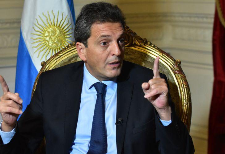 El presidente de la Cámara de Diputados, Sergio Massa, en la entrevista con Jorge Fontevecchia.