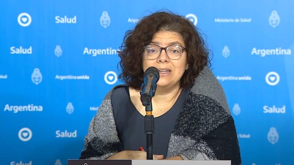 La secretaria de Acceso a la Salud, Carla Vizzotti, en el informe matutino sobre coronavirus.