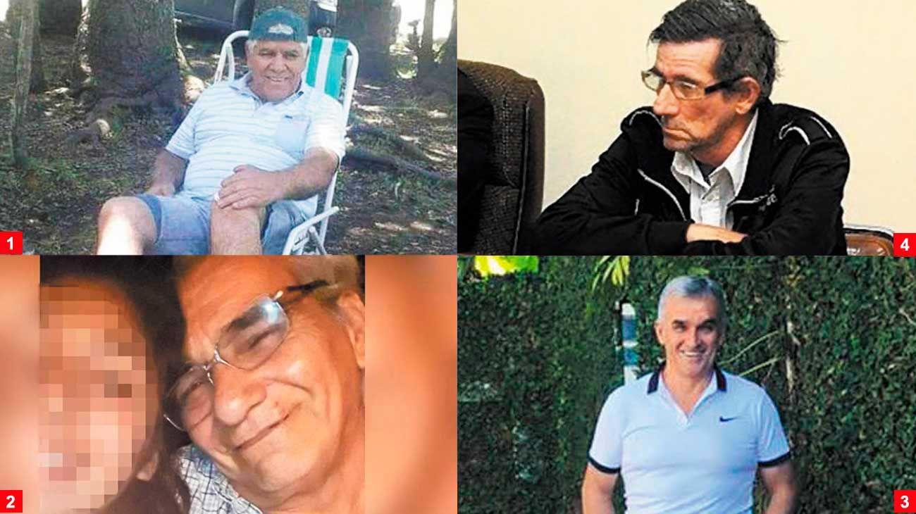 Fueron acusados por delitos graves de abuso sexual.  1 Julio Quilodran, 2 Pedro Olmo, 3 Carlos Dalmasso, 4 Nestor Ibars.