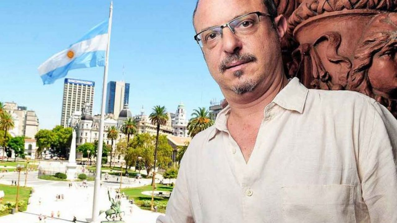 Alejandro Grimson en Casa Rosada.   Foto:Marcelo Aballay.
