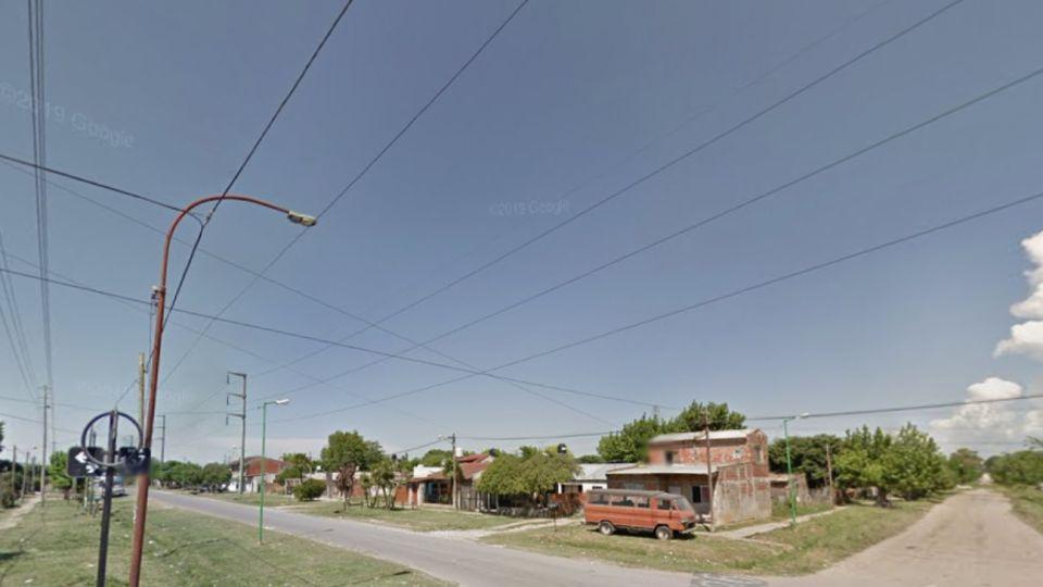 Calles 157 y 526 de Melchor Romero, La Plata, donde ocurrió el tiroteo.