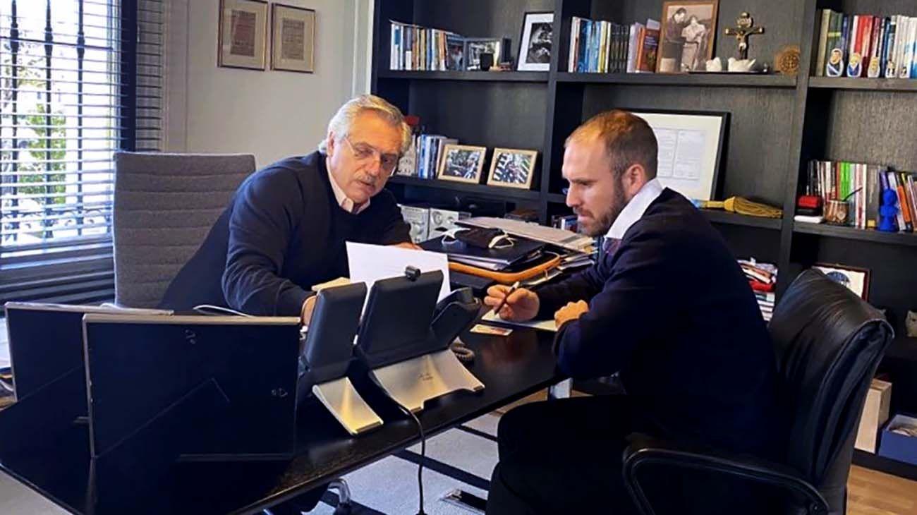 Alberto Fernandez y Martín Guzman Juntos