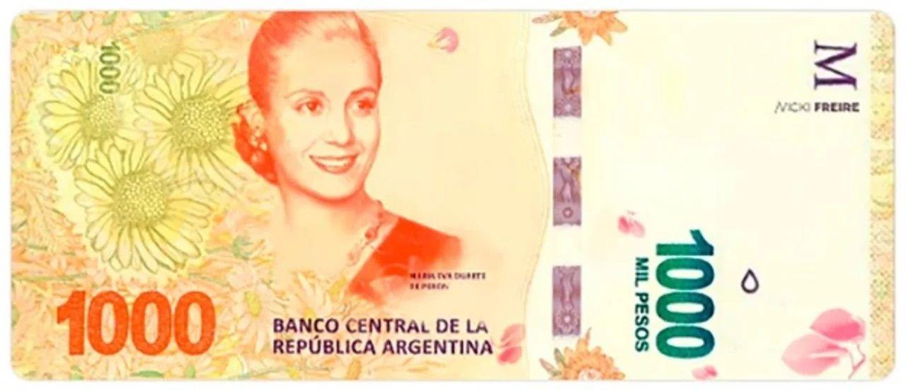 Billetes con imagenes femeninas