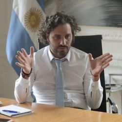 Santiago Cafiero en su oficina de la Jefatura de Gabinete | Foto:Cedoc.