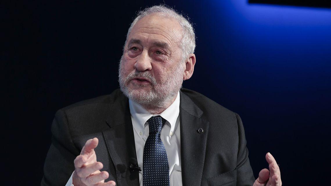Joseph Stiglitz, economics professor at Columbia University, gestures as he speaks during a panel session on day three of the World Economic Forum (WEF) in Davos, Switzerland.