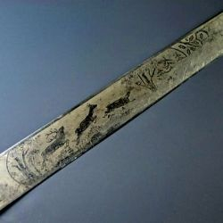 Presentaban un grabado excepcionalmente detallado en ambos lados, que consistía en un tema de caza.