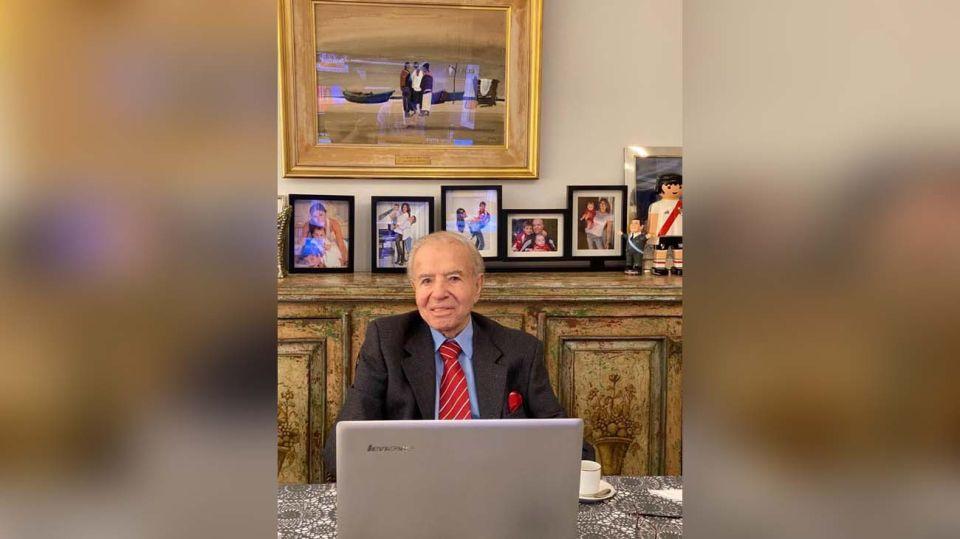 Menem dijo presente en la sesión virtual-20200513