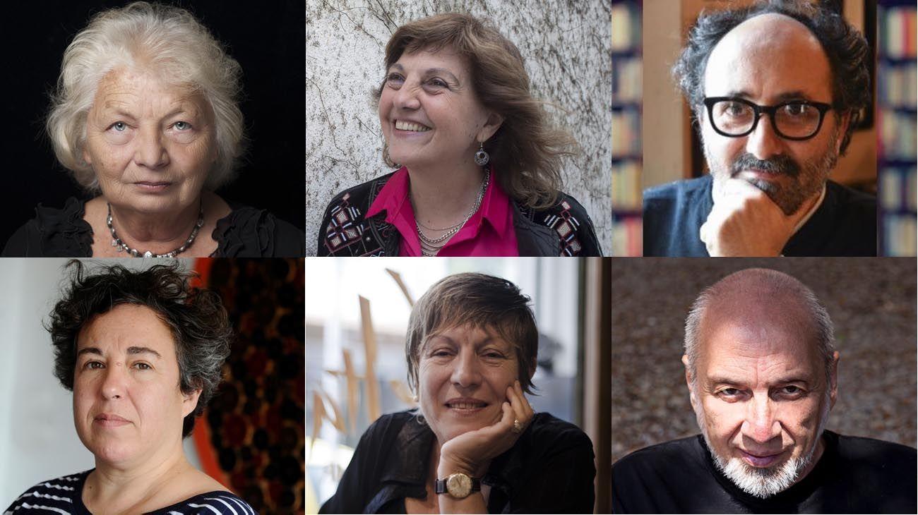 Algunos de los autores y autoras que componen la antología.