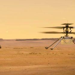 El Ingenuity mide 1,2 metros de largo y tiene un peso extremadamente liviano para su tamaño: solo 1,8 kilos.