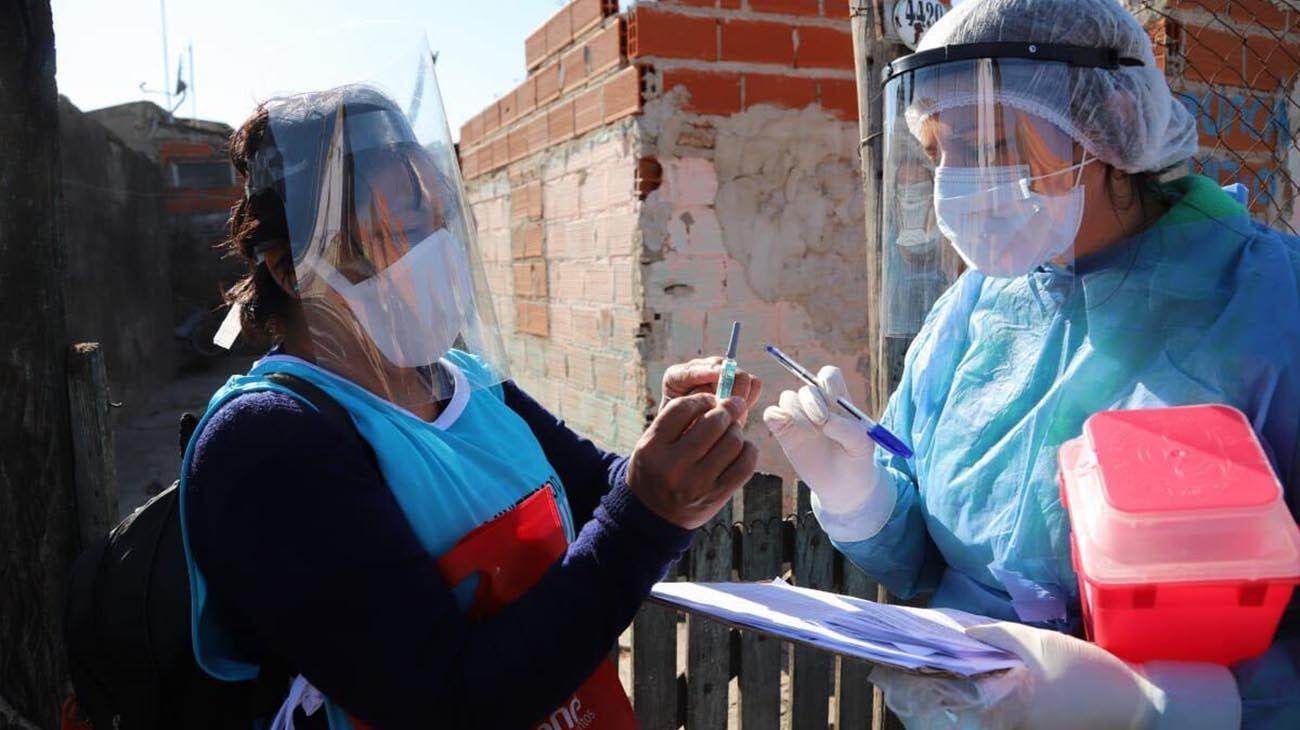 operativos de testeos en Barrios pobres del conurbano