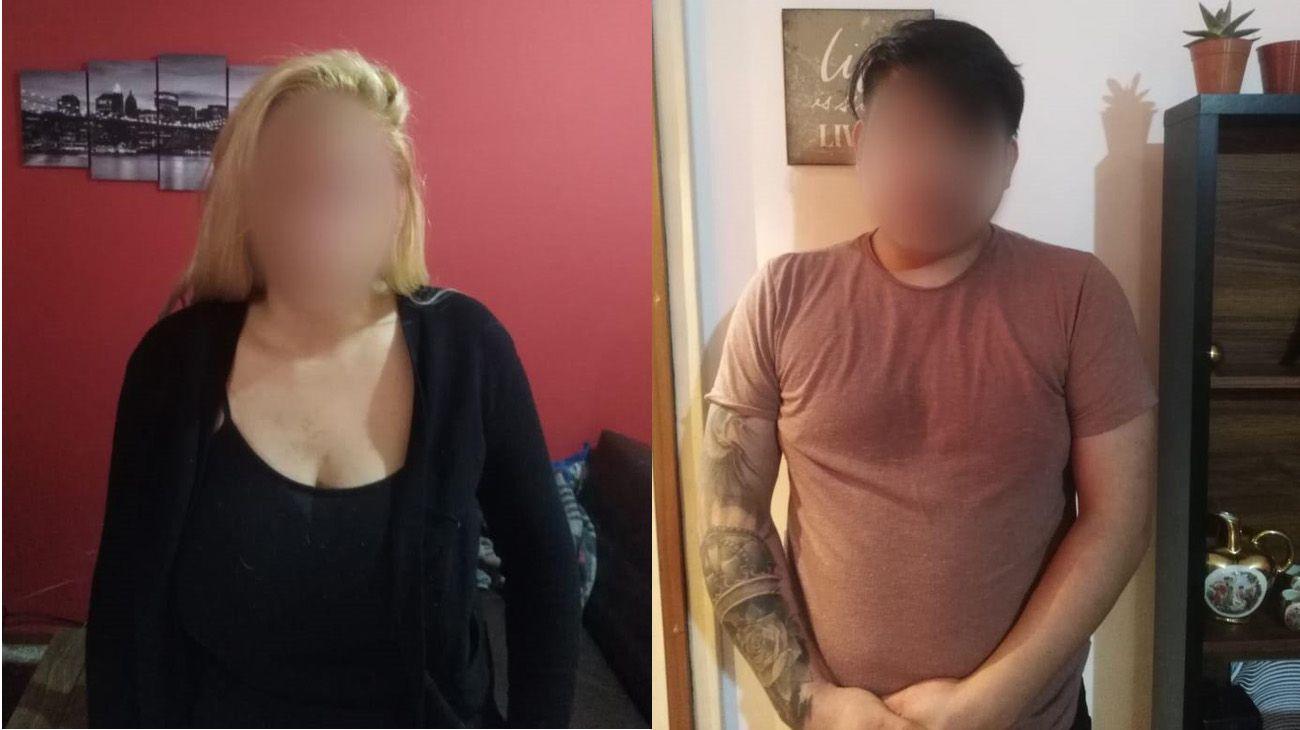 La pareja fue detenida por intoxicar a su beba con cocaína