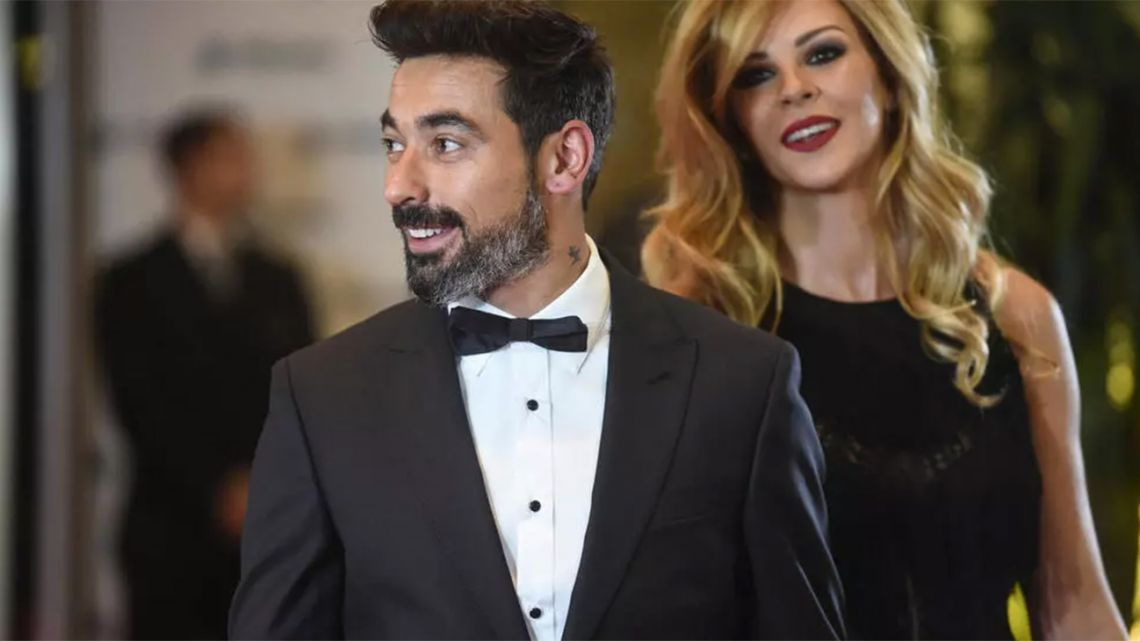 Retired footballer Ezequiel Lavezzi and his model and actress girlfriend Natalia Borges, pictured here in 2017.