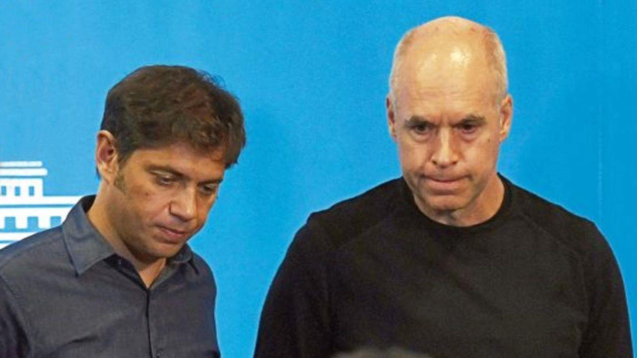 Axel Kicillof y Horacio Rodríguez Larreta | Foto:cedoc
