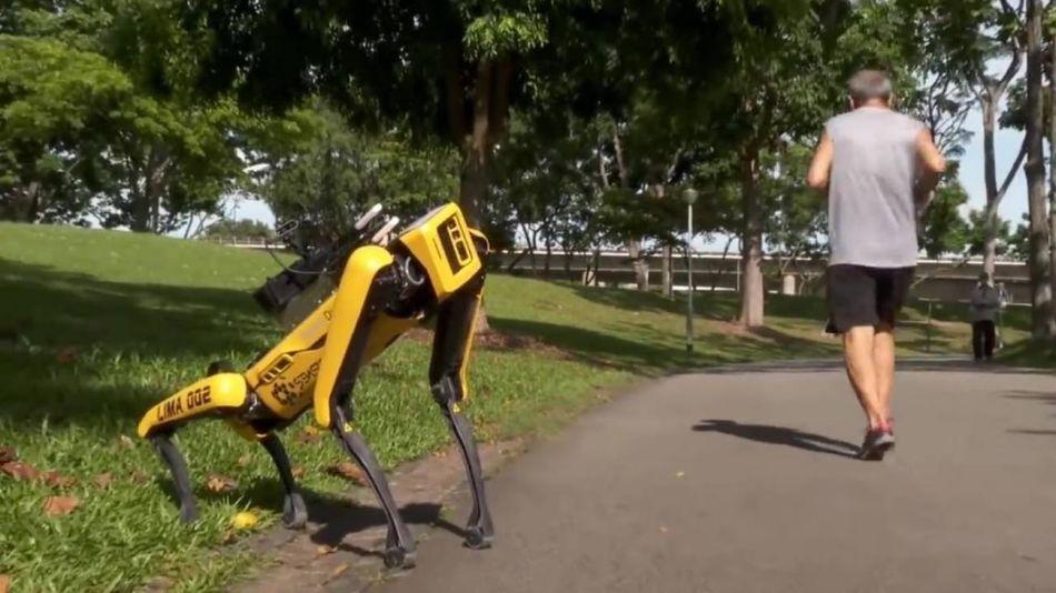 robots que vigilan la cuarentena en Singapur 20200513
