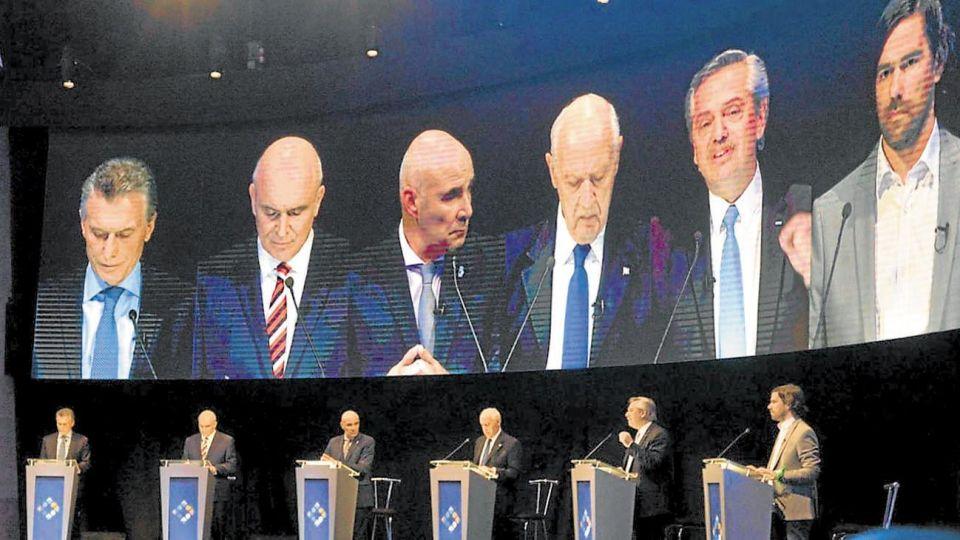 Imagen del debate presidencial 2019