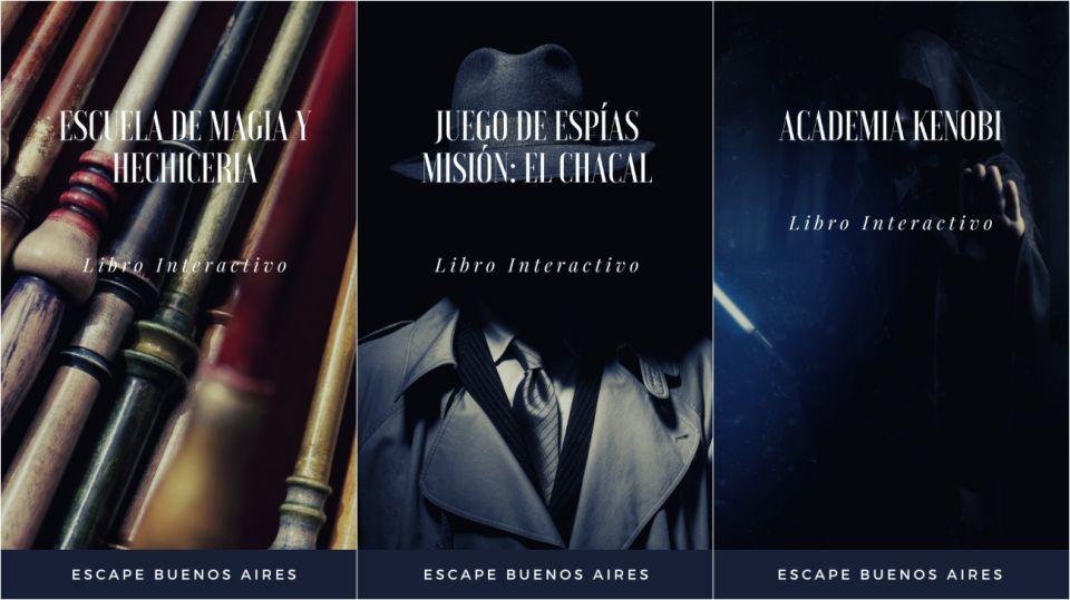 Las tres opciones de Escape Buenos Aires.