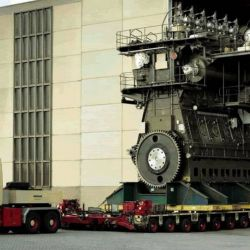 El Wärtsilä RT-flex96C se lanzó en 2003, pero en 2007 se le añadieron catorce cilindros con una potencia total de 84.420 kW.