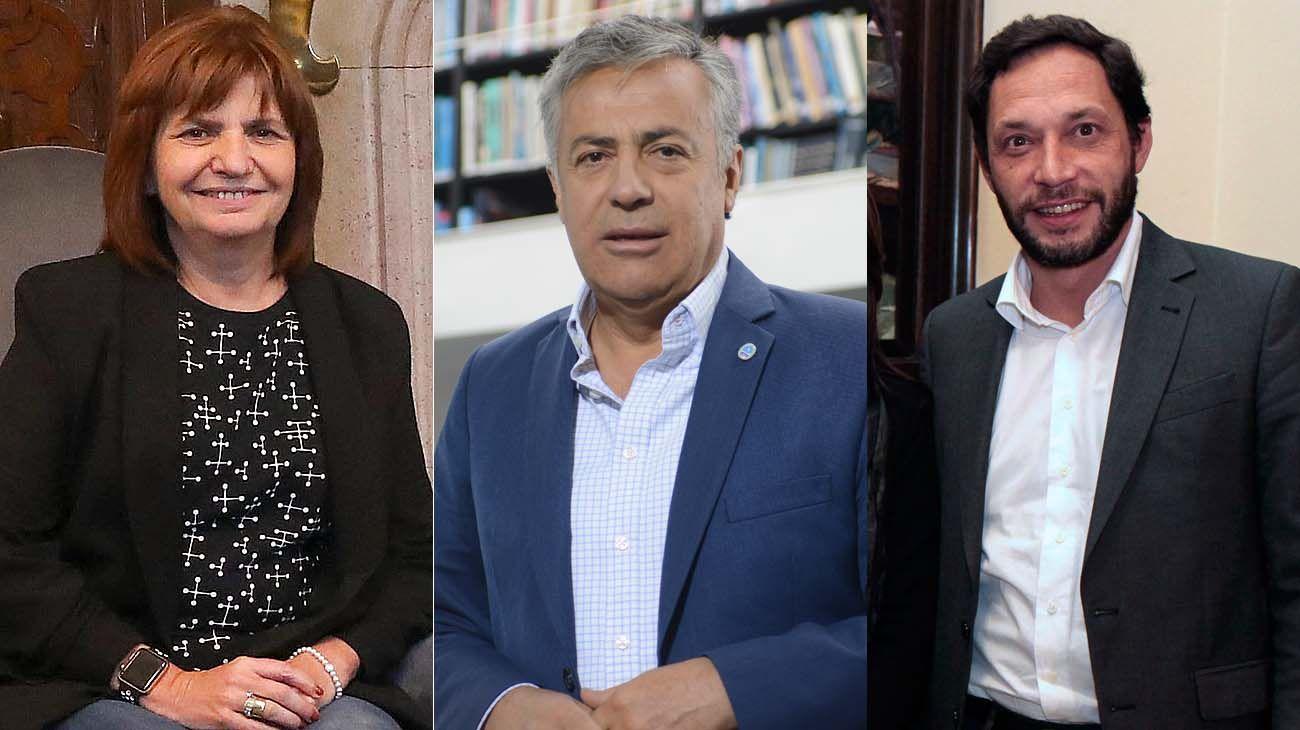 Patricia Bullrich, ALfredo Cornejo y Maxi Ferraro