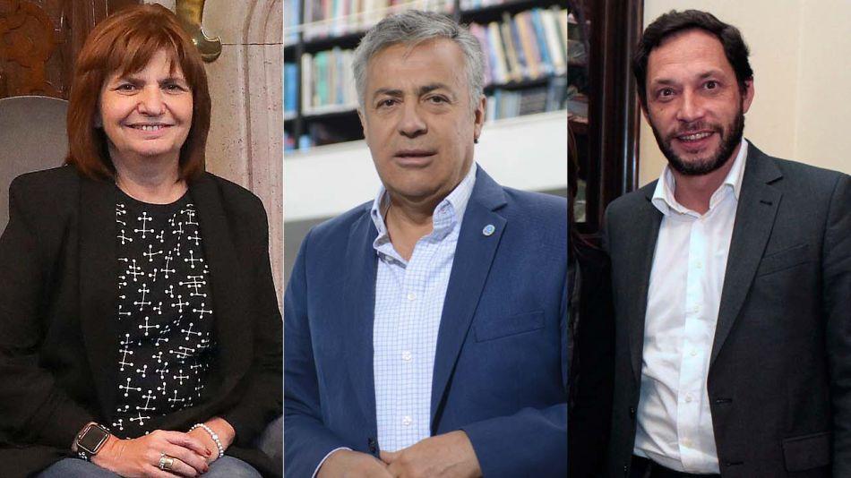 Patricia Bullrich, ALfredo Cornejo y Maxi Ferraro-20200514