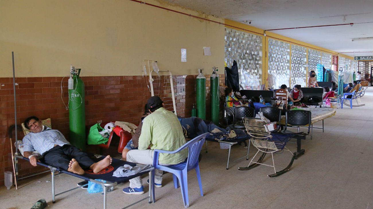 Un precario hospital en Iquitos, una de las ciudades más golpeadas por el virus.