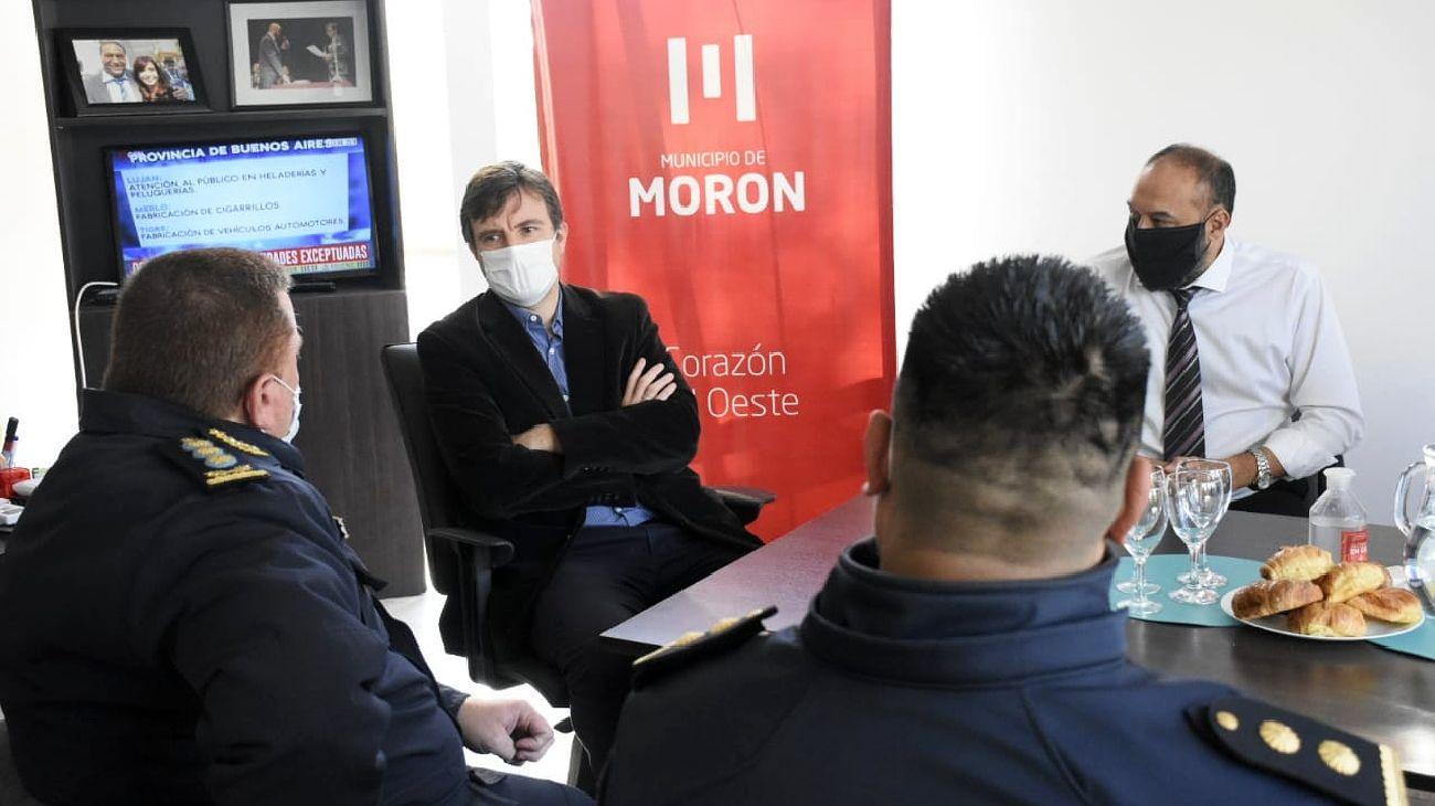 Lucas Ghi, intendente de Morón.