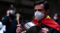 Cacerolazo contra el Gobierno español por el manejo de la crisis del coronavirus