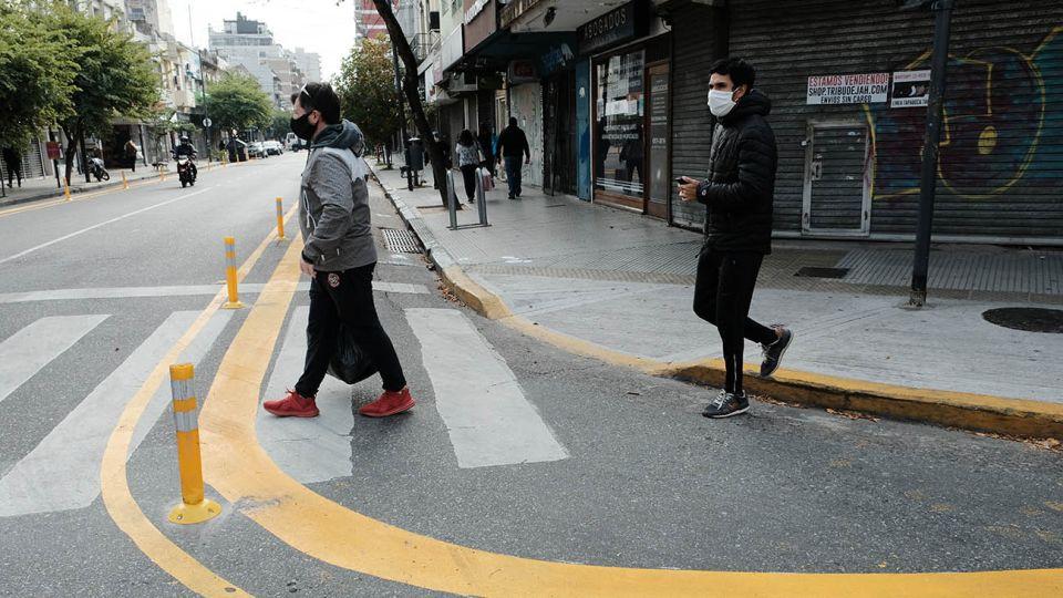 En el barrio de Villa del Parque se abrieron al tránsito peatonal algunas calles