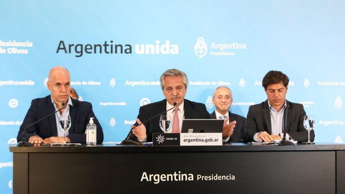 Alberto, Kicillof y Larreta: el triunvirato de la grieta