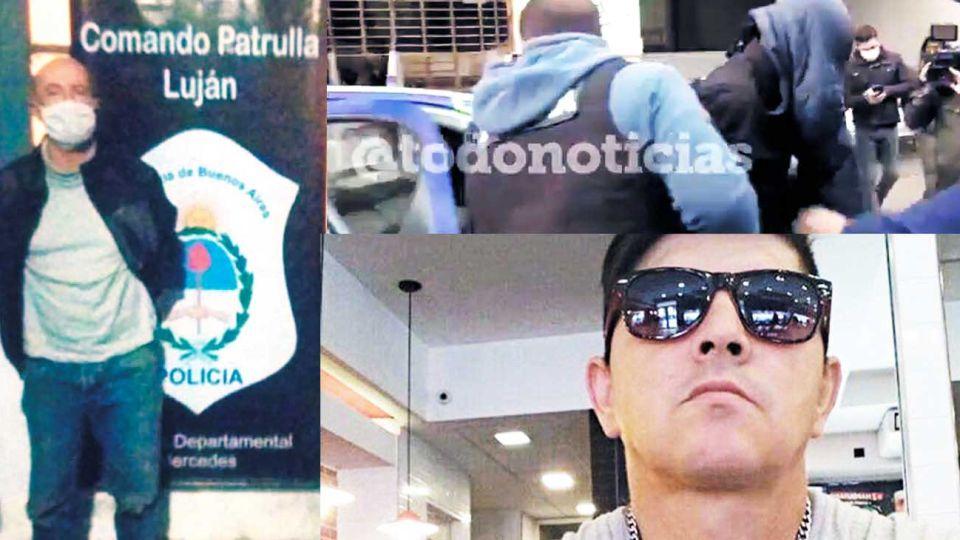 Horror. Baladía mató y descuartizó al jardinero Miguel Pereyra (der. abajo.) en Morón. Lo detuvieron en Luján.